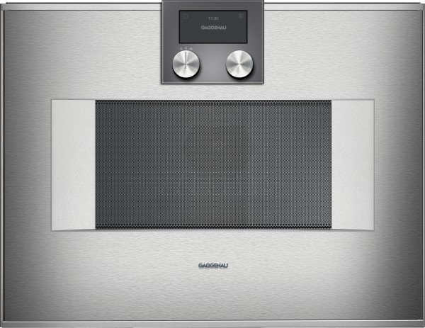Gaggenau BM450110 Mikrowellen-Backofen Serie 400 Edelstahl-hinterlegte Vollglastür Rechtsanschlag