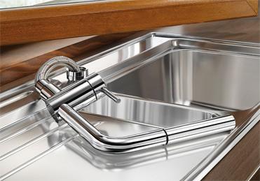 BLANCO LINUS-S-F 514023 chrom Vorfensterarmatur
