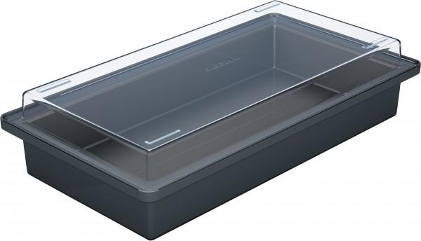 Gaggenau RA430100 Aufbewahrungsbehälter mit transparentem Deckel, Anthrazit.