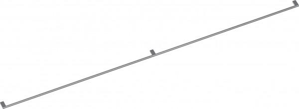 Gaggenau GH200010 Möbelgriff mit 3 Halterungen, Edelstahl, Länge 200 cm, Bohrabstand jeweils 988,5 m