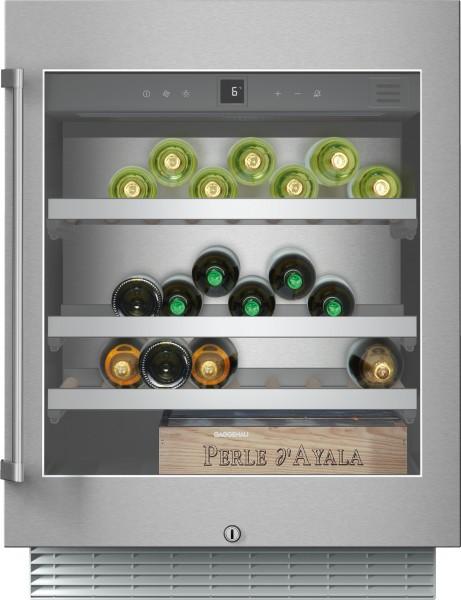 Gaggenau RW402261 Weinklimaschrank Serie 200 Unterbaufähig, Glastür mit Edelstahlrahmen Nischenbreit